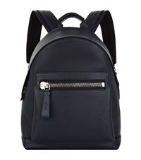 Tom Ford Grained Leather Backpack Navy