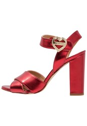 Love Moschino High Heeled Sandals Red