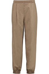 Vionnet Stretch Wool And Cashmere Blend Tapered Pants