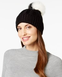 Bcbgeneration Two Tone Pom Pom Beanie Black