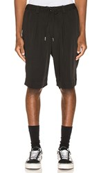 Drifter Laurie Trouser Shorts In Black.