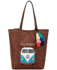 The Sak Palisade Reversible Tote A Macy's Exclusive Style Tobacco