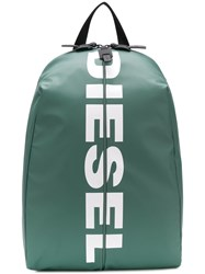Diesel Backpack With Bold Logo Grey