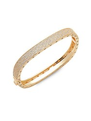 Saks Fifth Avenue Cubic Zirconia Bangle Bracelet Gold