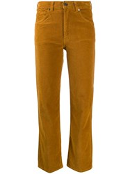Vanessa Bruno Corduroy Cropped Trousers Brown