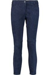 Michael Kors Collection Suede Skinny Pants Blue