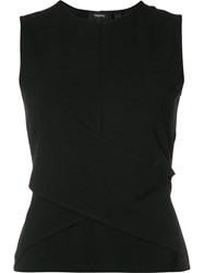 Theory Crossed Front Tank Black