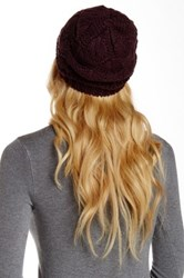 14Th And Union Raised Curl Beanie Purple