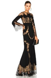 Zuhair Murad Lace Long Sleeve Gown In Black