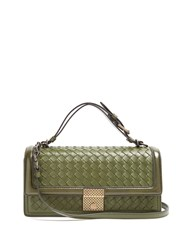 Bottega Veneta Intrecciato Woven Leather Bag Green