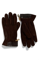 Timberland Men's Heritage Leather Gloves Brown