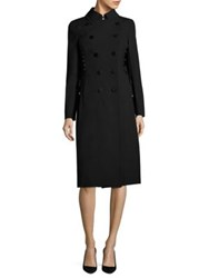 Escada Myas Lace Up Detail Trench Coat Black
