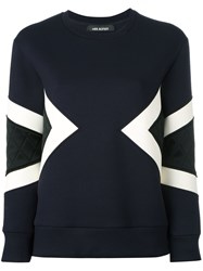 Neil Barrett Quilted Sweatshirt Blue