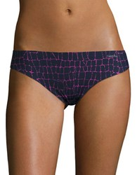 Calvin Klein Invisibles Printed Thong Panty Etched