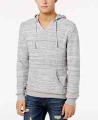 American Rag Men's Geo Jacquard Hoodie Created For Macy's Fresh Mist