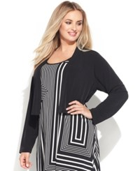 Calvin Klein Plus Size Long Sleeve Open Front Cardigan