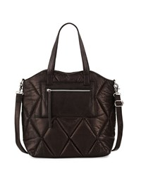 Day And Mood Abana Quilted Leather Tote Bag Black