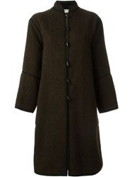 Yves Saint Laurent Vintage Toggle Coat Brown
