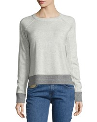 Rag And Bone Charley Colorblock Pullover Ivory Melange