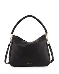 Cole Haan Benson Mini Leather Hobo Bag Black