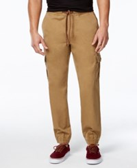 American Rag Men's Slim Fit Cargo Joggers Only At Macy's Dull Gold