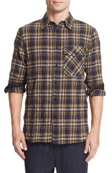 Rag And Bone Men's Cpo Cotton Wool Plaid Flannel Shirt