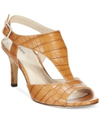 Styleandco. Style And Co. Saharii T Strap Dress Sandals Only At Macy's Women's Shoes Cognac
