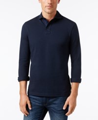 Barbour Men's Halford Long Sleeve Polo A Macy's Exclusive Style Navy