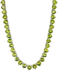 Macy's Sterling Silver Necklace Peridot 40 Ct. T.W. Continuous Necklace