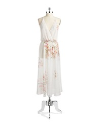 Flora Nikrooz Sheer Floral Nightgown Ivory