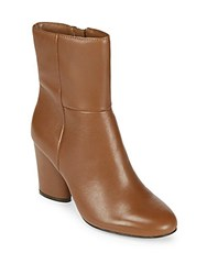 Saks Fifth Avenue Nita Leather Booties Cognac
