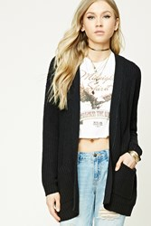 Forever 21 Ribbed Open Front Cardigan