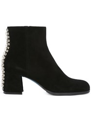 Loriblu Rear Studded Ankle Boots Black