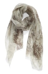 Women's Badgley Mischka 'Sheer Rose' Floral Print Modal And Silk Scarf