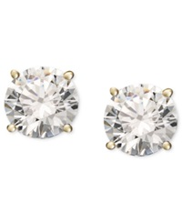 Macy's Diamond Stud Earrings 1 3 Ct. T.W. In 14K White Or Yellow Gold