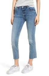 Vigoss Jagger Crop Straight Leg Jeans Med Wash