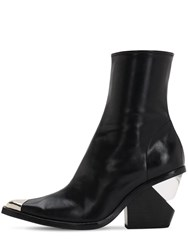 Jeffrey Campbell 100Mm Faux Leather Cowboy Boots Black
