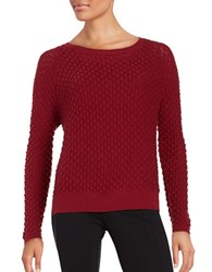 French Connection Ella Wool Blend Sweater Berry Red
