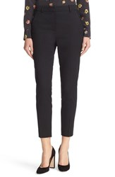 The Kooples Women's Lace Trim Crop Suit Pants