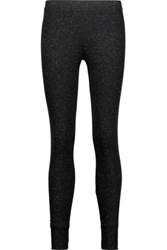 Splendid Metallic Ribbed Knit Leggings Black