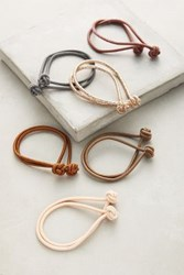 Anthropologie Knotted Hair Ties Mauve