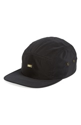Obey 'Staten' Five Panel Cap Black