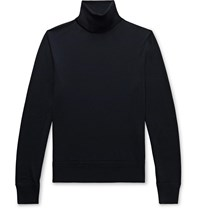 Tom Ford Wool Rollneck Sweater Blue