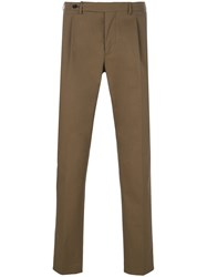Berwich Straight Leg Trousers Green