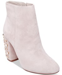 Steve Madden Yvette Studded Booties Taupe Suede