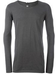 Rick Owens Scoop Neck Sweater Grey