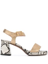 L'autre Chose Heeled Sandals Gold