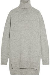 Isabel Marant Fergus Oversized Wool Blend Turtleneck Sweater Light Gray