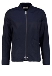 Folk Summer Jacket Navy Dark Blue