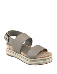 Marc Fisher Loria Espadrille Sandals Light Green